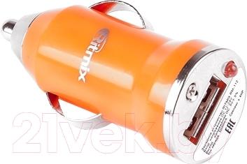 Автомобильный адаптер питания Ritmix RM-112 (оранжевый)