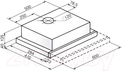 Вытяжка телескопическая Faber Flox Glass BK A60 (110.0436.364)