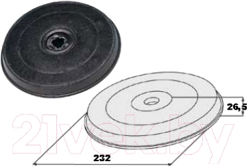 Угольный фильтр для вытяжки Faber H20 (112.0157.238)
