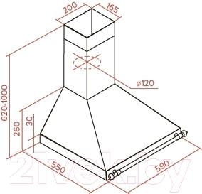 Вытяжка купольная Teka DOB 60 AB (40495431)