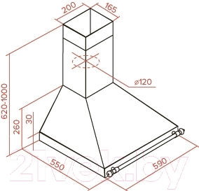 Вытяжка купольная Teka DOB 60 BB (40495432)