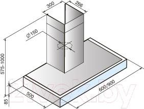 Вытяжка Т-образная Teka DPA Glass 60 White (40495411)
