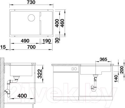 Мойка кухонная Blanco Subline 700-U Level (520666)