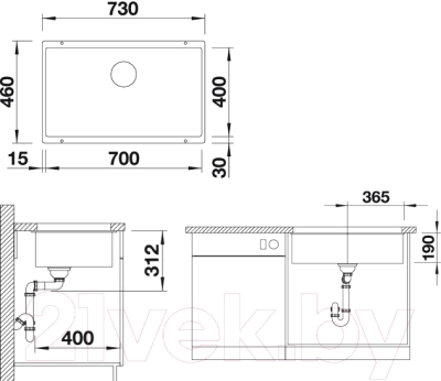 Мойка кухонная Blanco Subline 700-U (517437)