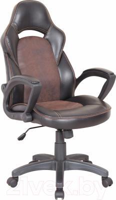Кресло офисное Halmar Lizard (черный/коричневый)