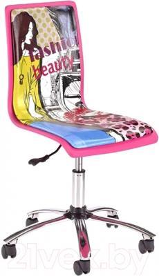 Кресло офисное Halmar FUN-12 (розовый/голубой)