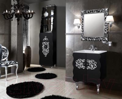 Шкаф-пенал для ванной Bliss Искушение 1Д1Я 0459.10 (черный)