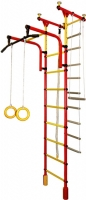 Детский спортивный комплекс Формула здоровья Фаворит-1С Плюс (красный/желтый) -