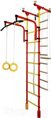 Детский спортивный комплекс Формула здоровья Фаворит-1С Плюс (красный/желтый)
