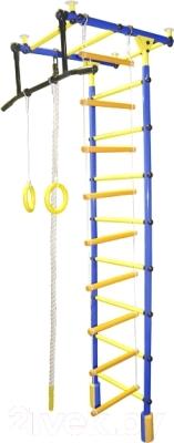 Детский спортивный комплекс Формула здоровья Уралец-1А Плюс Универсальный (синий/желтый)