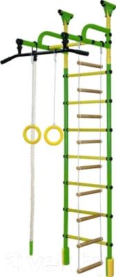 Детский спортивный комплекс Формула здоровья Жирафик-1А Плюс Универсальный (зеленый/желтый)