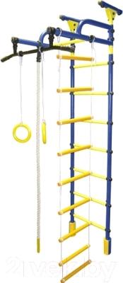 Детский спортивный комплекс Формула здоровья Жирафик-1А Плюс Универсальный (синий/желтый)