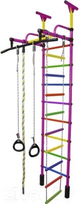 Детский спортивный комплекс Формула здоровья Жирафик-1А Плюс Универсальный (фиолетовый/радуга)