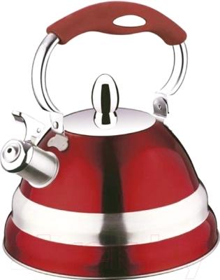 Чайник со свистком Peterhof PH-15580 (красный)