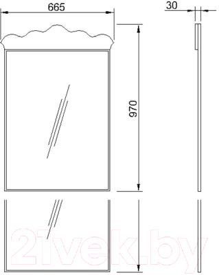 Зеркало для ванной Bliss Искушение / 0459.6 (черный)