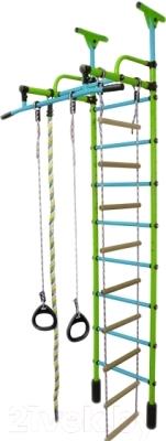 Детский спортивный комплекс Формула здоровья Жирафик-1А Плюс Универсальный (салатовый/голубой)