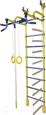 Детский спортивный комплекс Формула здоровья Жирафик-4А Плюс (желтый/синий)