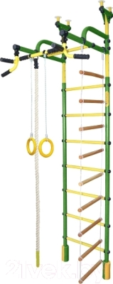 Детский спортивный комплекс Формула здоровья Жирафик-4А Плюс (зеленый/желтый)