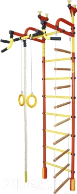 Детский спортивный комплекс Формула здоровья Жирафик-4А Плюс (красный/желтый)