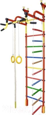 Детский спортивный комплекс Формула здоровья Жирафик-4А Плюс (красный/радуга)