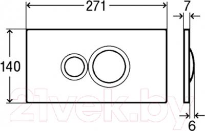 Кнопка для инсталляции Viega Visign for Style 10 596323 - схема