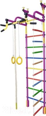 Детский спортивный комплекс Формула здоровья Жирафик-4А Плюс (фиолетовый/радуга)