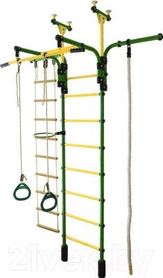 Детский спортивный комплекс Формула здоровья Гимнаст 1-Е Плюс (зеленый/желтый)