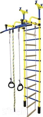 Детский спортивный комплекс Формула здоровья Жирафик-1А Плюс (желтый/синий)