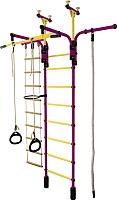 Детский спортивный комплекс Формула здоровья Гимнаст 1-Е Плюс (фиолетовый/желтый) -