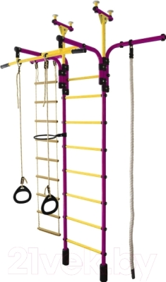 Детский спортивный комплекс Формула здоровья Гимнаст 1-Е Плюс (фиолетовый/желтый)