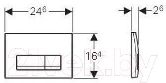 Кнопка для инсталляции Geberit Delta 115.105.11.1