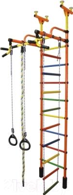 Детский спортивный комплекс Формула здоровья Жирафик-4А Плюс (оранжевый/радуга)