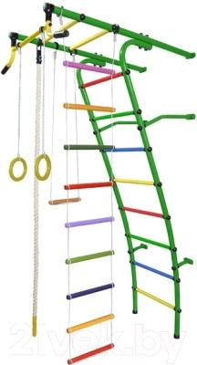 Детский спортивный комплекс Формула здоровья Стелла-2С Плюс (зеленый/радуга)
