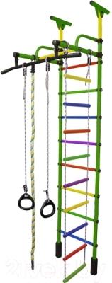 Детский спортивный комплекс Формула здоровья Жирафик-1А Плюс Универсальный (зеленый/радуга)