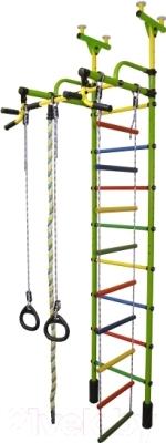 Детский спортивный комплекс Формула здоровья Жирафик-4А Плюс (салатовый/радуга)
