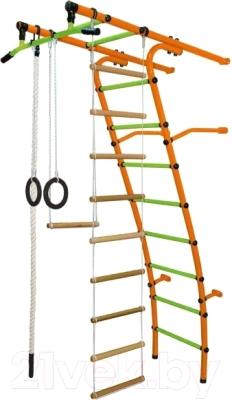 Детский спортивный комплекс Формула здоровья Стелла-1С Плюс (оранжевый/салатовый)