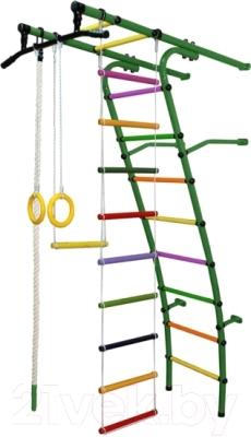 Детский спортивный комплекс Формула здоровья Стелла-1С Плюс (зеленый/радуга)