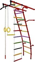 Детский спортивный комплекс Формула здоровья Стелла-1С Плюс (красный/радуга) -