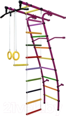 Детский спортивный комплекс Формула здоровья Стелла-1С Плюс (фиолетовый/радуга)