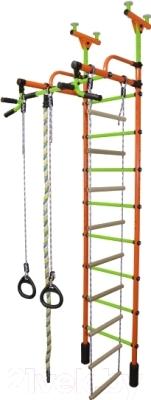 Детский спортивный комплекс Формула здоровья Жирафик-4А Плюс (оранжевый/салатовый)