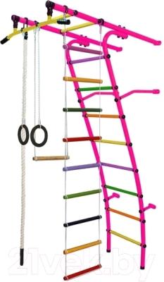 Детский спортивный комплекс Формула здоровья Стелла-1С Плюс (розовый/радуга)