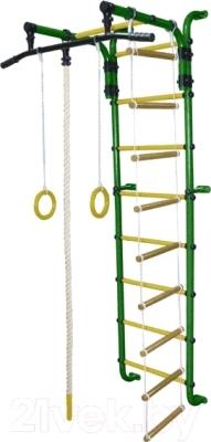 Детский спортивный комплекс Формула здоровья Сигма-1А Плюс (зеленый/желтый)