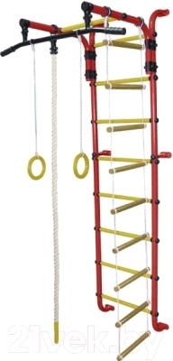 Детский спортивный комплекс Формула здоровья Сигма-1А Плюс (красный/желтый)