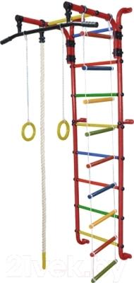 Детский спортивный комплекс Формула здоровья Сигма-1А Плюс (красный/радуга)