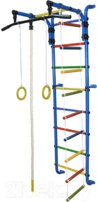 Детский спортивный комплекс Формула здоровья Сигма-1А Плюс (синий/радуга)