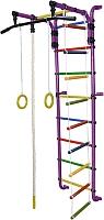Детский спортивный комплекс Формула здоровья Сигма-1А Плюс (фиолетовый/радуга) -