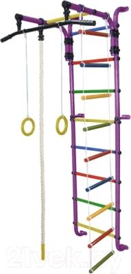 Детский спортивный комплекс Формула здоровья Сигма-1А Плюс (фиолетовый/радуга)
