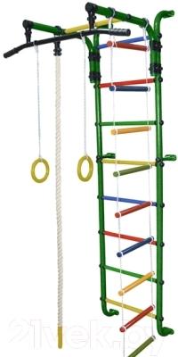 Детский спортивный комплекс Формула здоровья Сигма-1А Плюс (зеленый/радуга)
