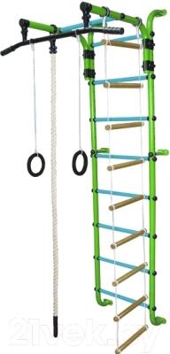 Детский спортивный комплекс Формула здоровья Сигма-1А Плюс (салатовый/голубой)
