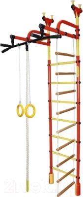 Детский спортивный комплекс Формула здоровья Жирафик-3А Плюс (красный/желтый)